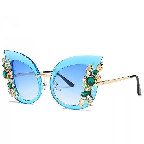 Coup d'Oeil Rhinestone Cat Eye Sunglasses