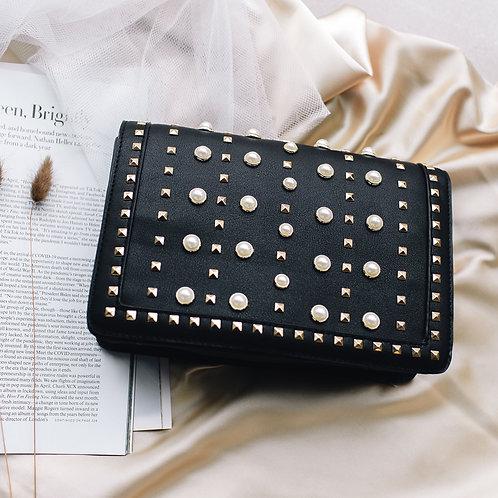Monaco Pearl and Stud Embellished Handbag