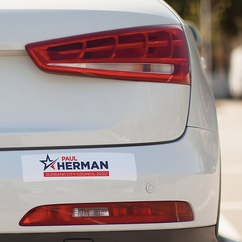 Paul Herman for Burbank Bumper Sticker