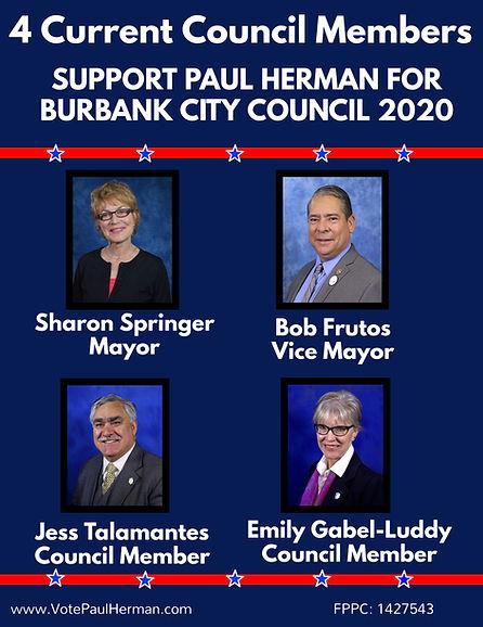 4 Burbank Councilmembers Endorse Paul He