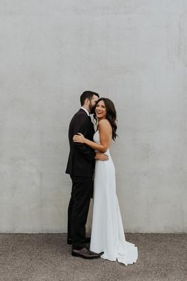 Chicago couple on wedding day