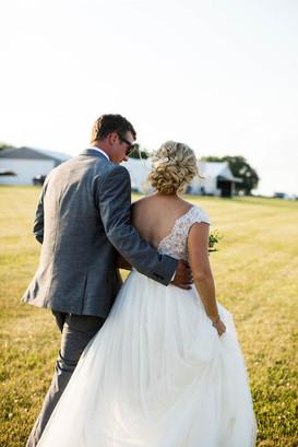 Illinois bride and groom at wedding
