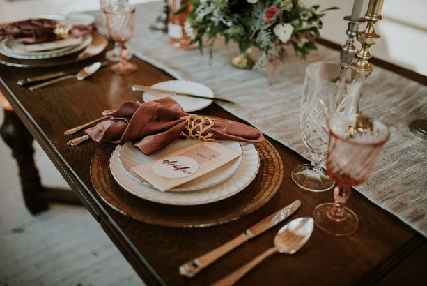 Tablescape by wedding planner