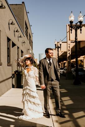 Chicago couple wedding portraits