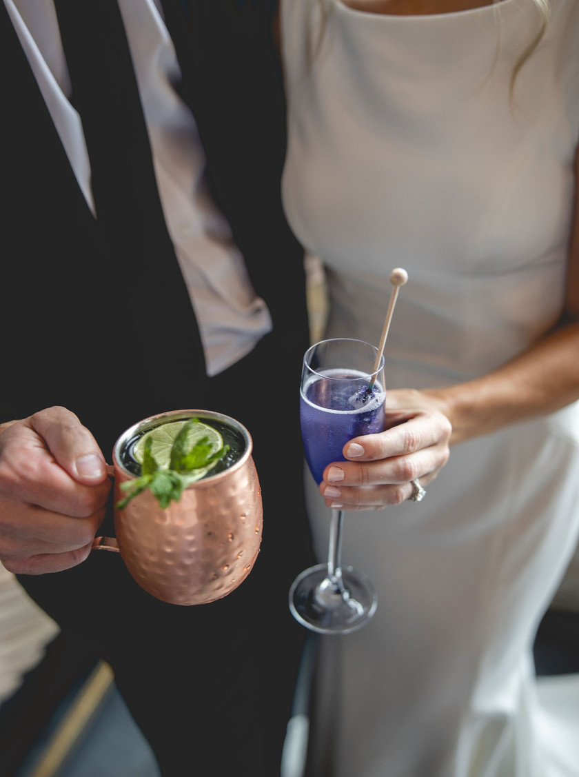 Signature cocktails made by wedding planner