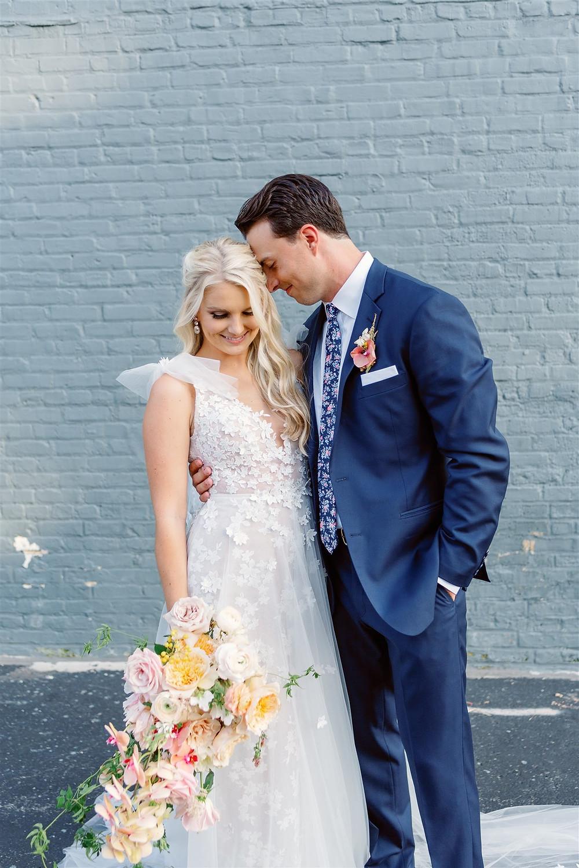 Bride and groom portraits in Wisconsin
