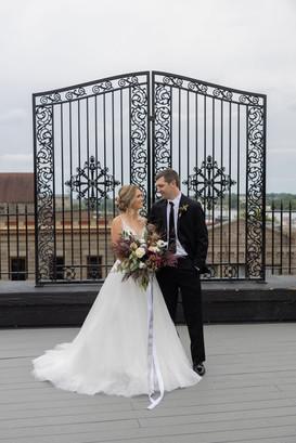 Rooftop wedding in Illinois