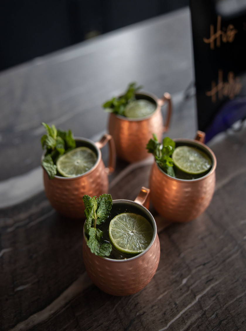 Moscow mules at wedding