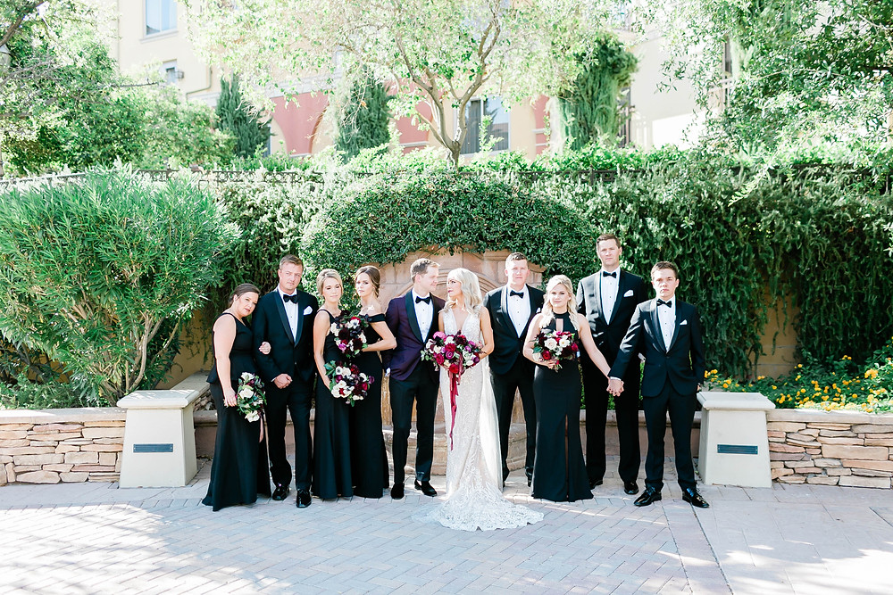 Sophisticated wedding party