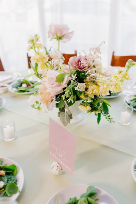 Table centerpiece at wedding reception