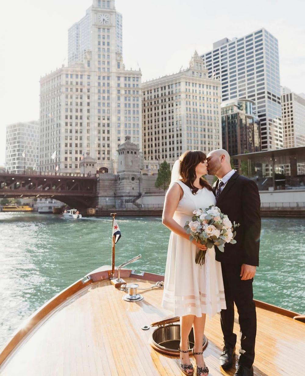 Chicago boat elopement