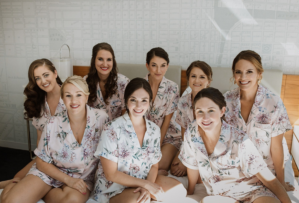 Bridesmaids at Kinzie Hotel in Chicago