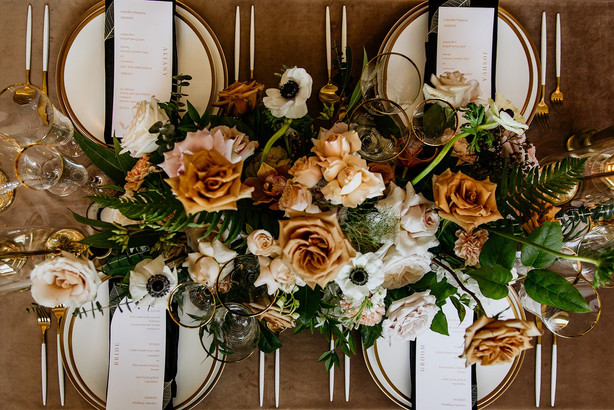 Fall wedding floral centerpiece