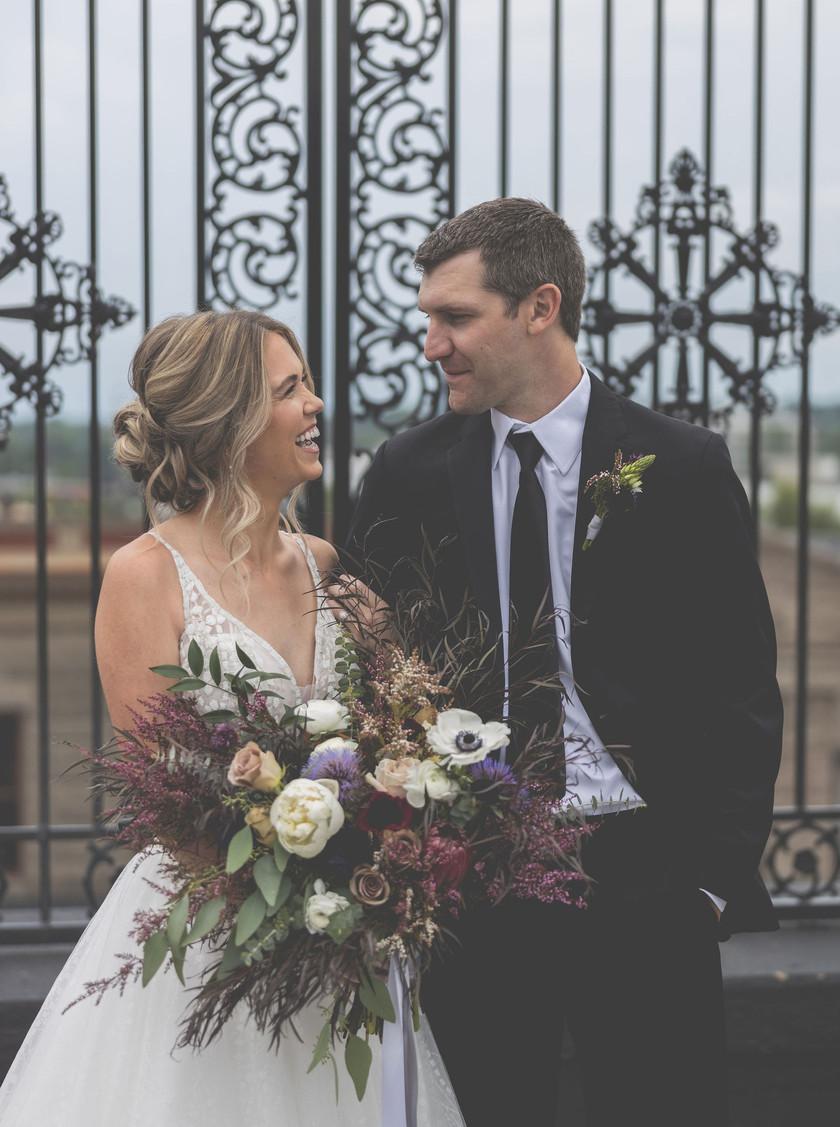 Illinois bride and groom