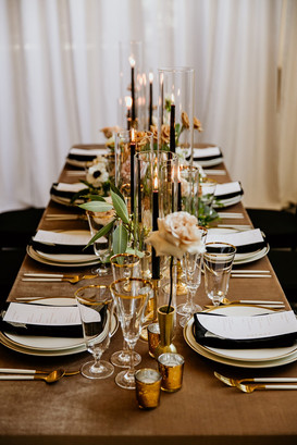 Luxury fall wedding tablescape