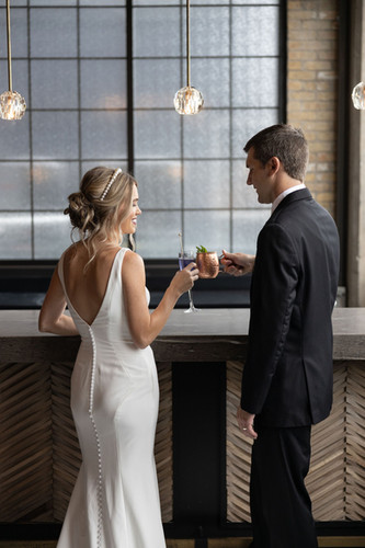 Cheers to the bride and groom