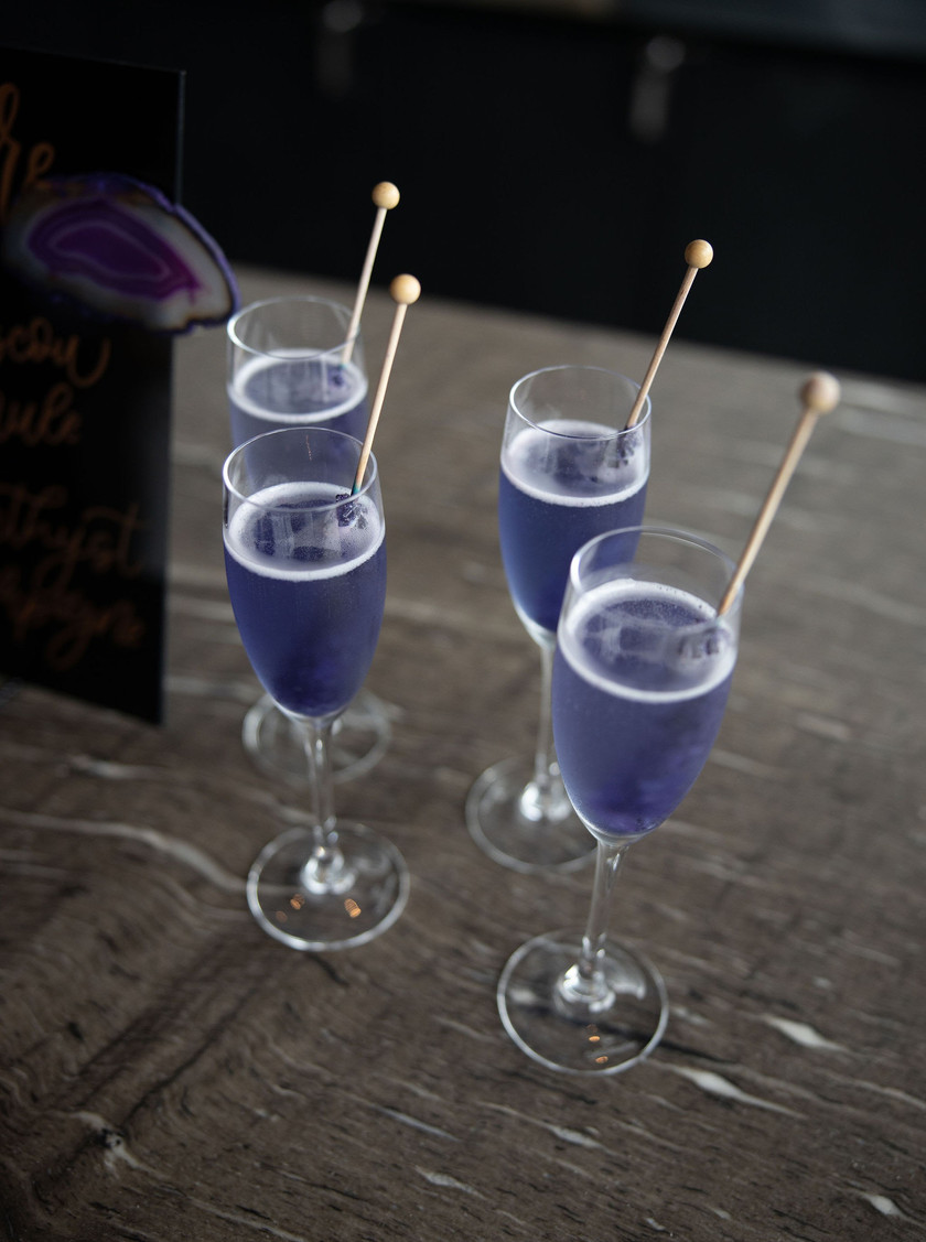 Champagne signature cocktail