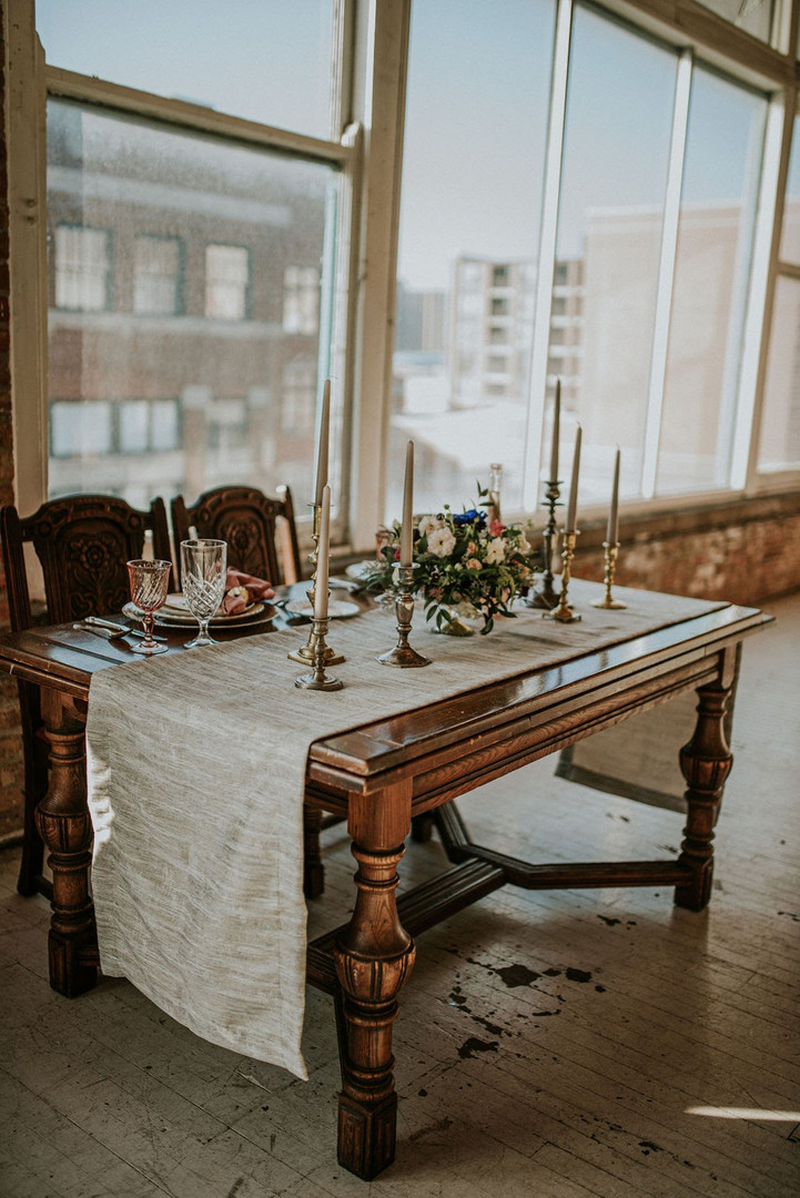 Sweetheart table at Chicago wedding