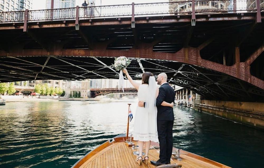 Chicago River wedding
