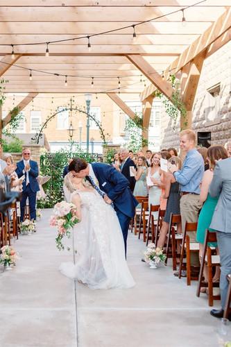 Wisconsin wedding ceremony with bride and groom