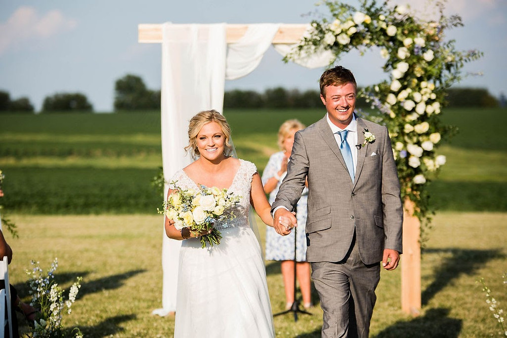Illinois wedding on farm