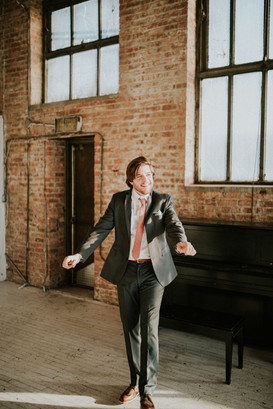 Chicago groom in downtown loft