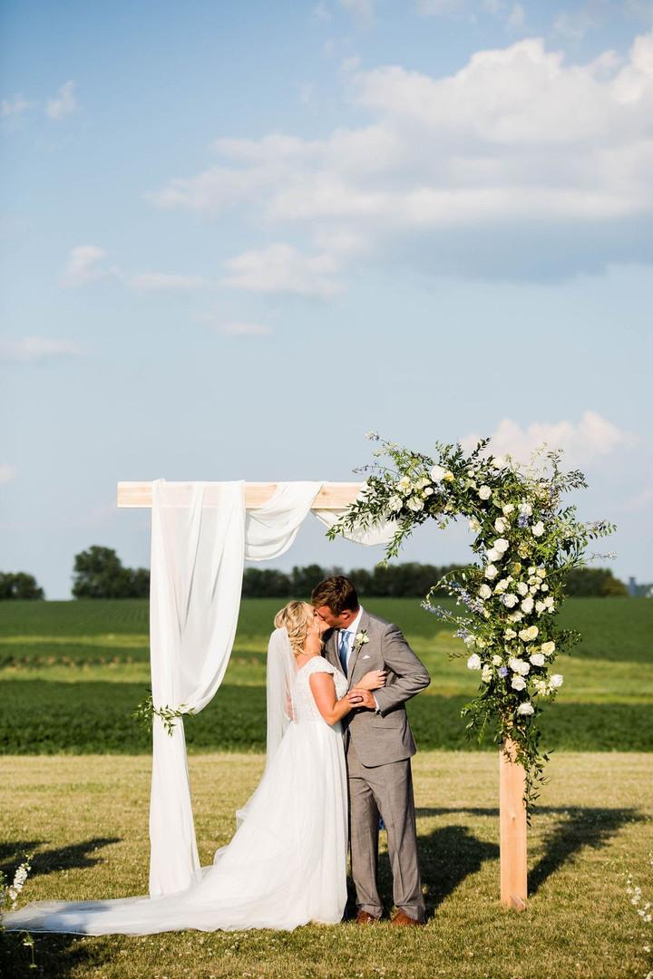 Outdoor Illinois wedding ceremony