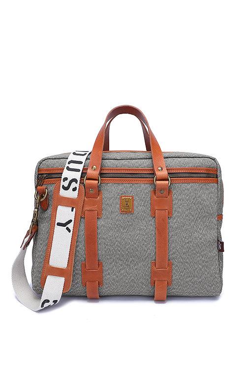 Tough canvas briefcase