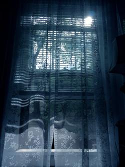 Sun through Lace Curtains