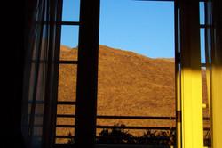 Still Mountain through Door