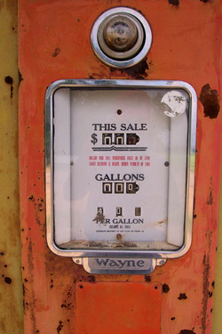 Forty Cents a Gallon Gas Pump