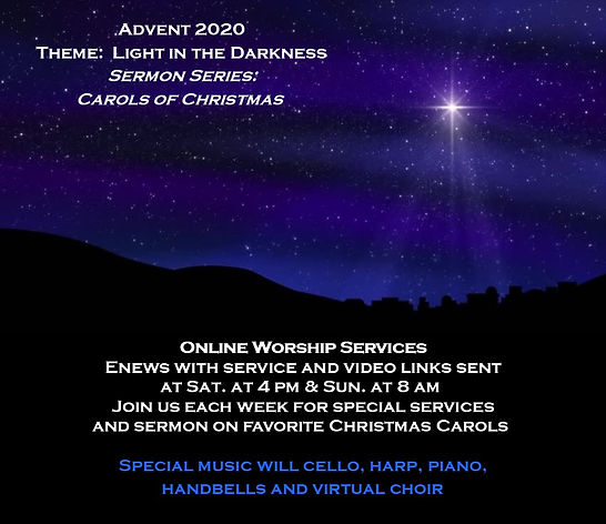 advent pic with words and details for we