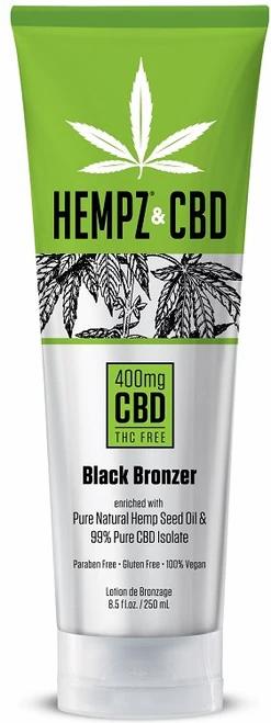 Hempz & CBD 400mg Black Bronzer Tanning Lotion 8.5oz