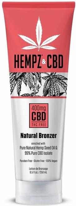Hempz & CBD 400mg THC Free Natural Bronzer Tanning Lotion 8.5oz