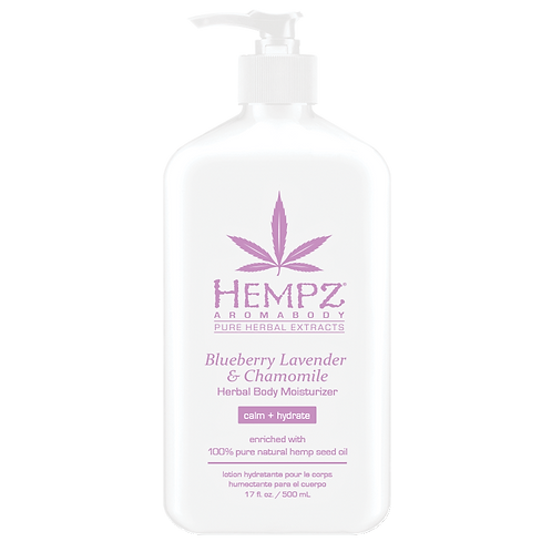 Hempz Aromabody Blueberry Lavender & Chamomile Herbal Body Moisturizer 17oz