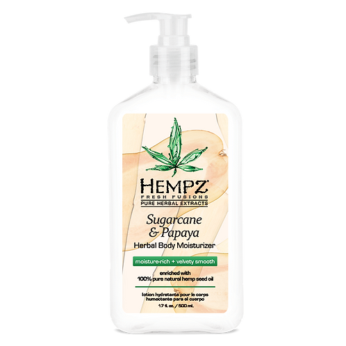 Hempz Fresh Fusion Sugarcane & Papaya Herbal Body Moisturizer 17oz