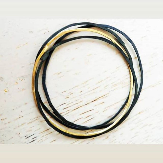 Bracelets_#blacksilver #handmadejewelery