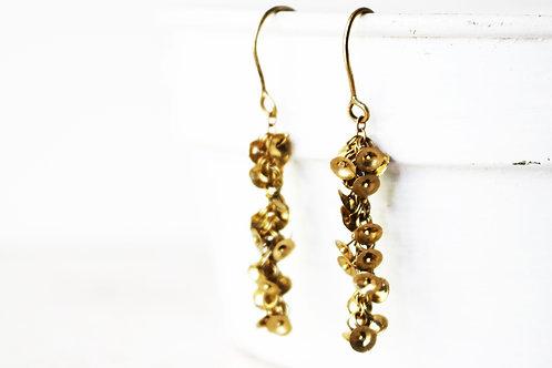 14k Gold ClusterHandmade Earrings