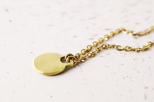 14k Gold Handmaid Coin Necklace