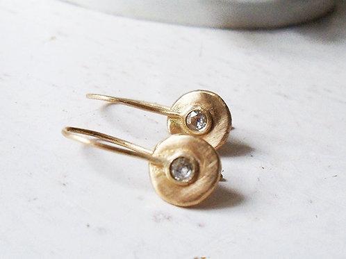 Classic Gray Diamond Drop Earrings