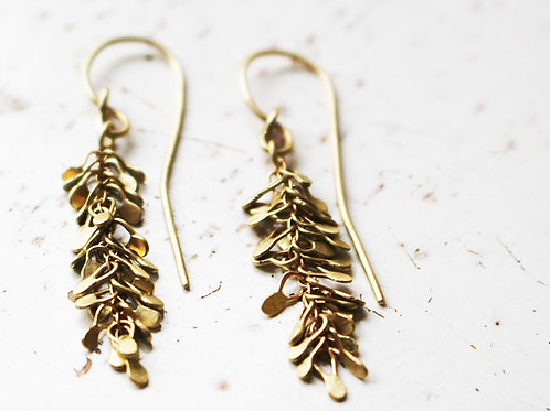 14k Gold Chandelier Handmade Earrings