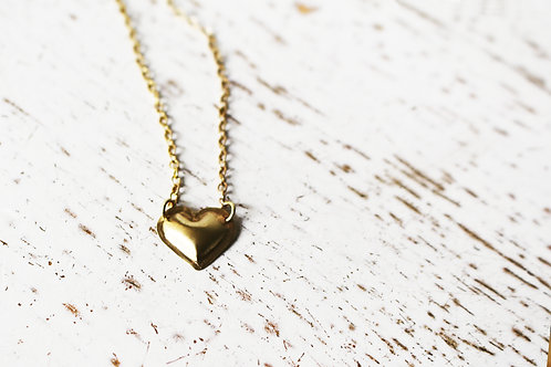 Dainty 14k Gold Heart Necklace