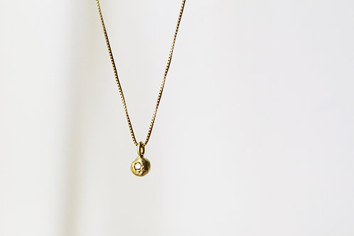 Moon Pendant on a  14k Gold Necklace