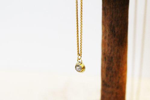 18k Gold Milky Diamond Necklace