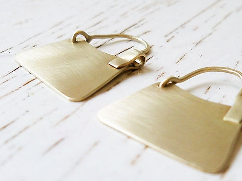 Trapezoid 14k Gold Earrings