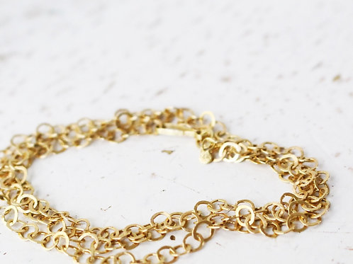 14k Gold Handcrafted Loops Necklace
