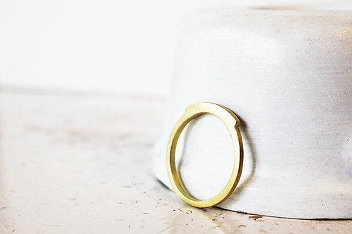 14k Matte Special Ring