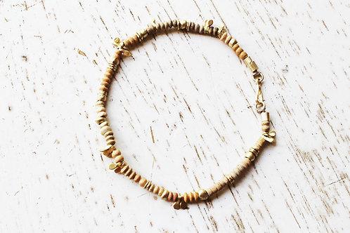 14k Gold and Terracotta Beads Bracelet
