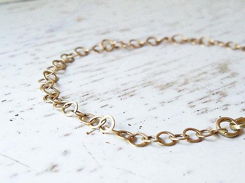 14k Gold Handmade Loops Bracelet