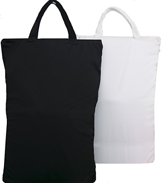 wet bag black and white design